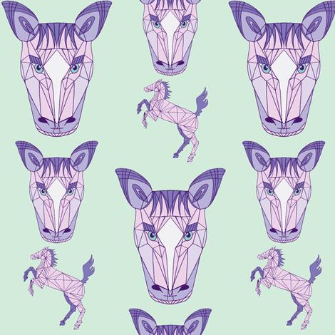 horse purple fabric by poppybasildesigns on Spoonflower - custom fabric