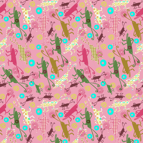 Perfectly Patterned Crickets fabric by slumbermonkey on Spoonflower - custom fabric