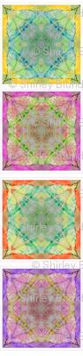 4 Tissue Tie-Dye Squares