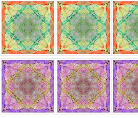 4 Tissue Tie-Dye Squares fabric by koalalady on Spoonflower - custom fabric