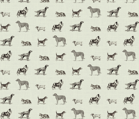 Canus Elegantus fabric by ragan on Spoonflower - custom fabric
