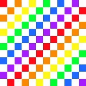Rainbow Checkers with White