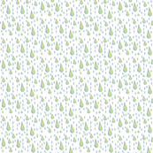 RAINDROPS-BLUE GREEN