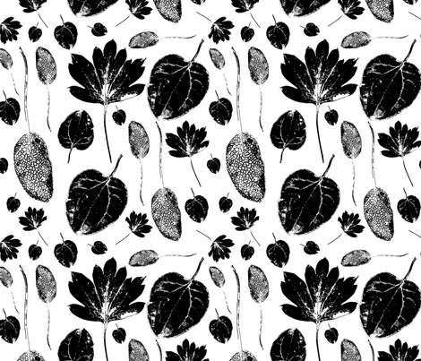 Three mistery leaves fabric by renewfabrics on Spoonflower - custom fabric