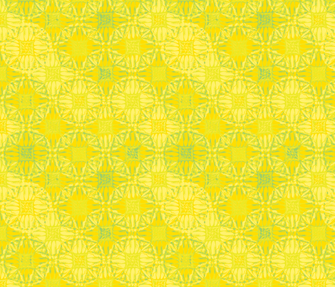 patchwork scallops citrus squeeze fabric by glimmericks on Spoonflower - custom fabric