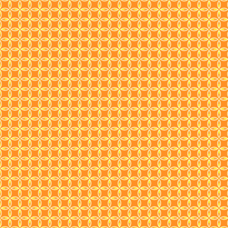 Citrus Leaf Orange fabric by holladay on Spoonflower - custom fabric