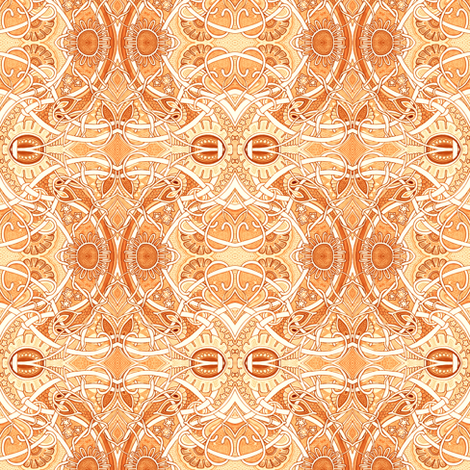 The Scent of Orange Blossoms fabric by edsel2084 on Spoonflower - custom fabric
