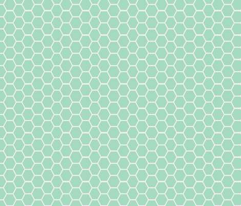 honeycomb milk glass fabric by ninaribena on Spoonflower - custom fabric