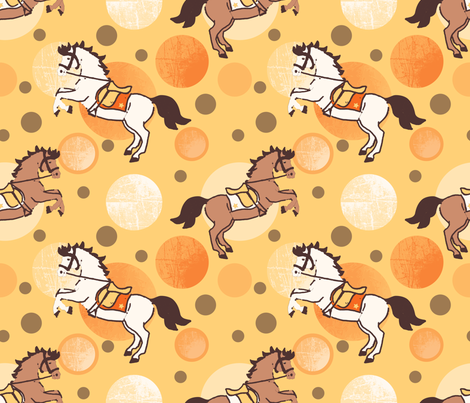 horses and bubbles fabric by lilliblomma on Spoonflower - custom fabric