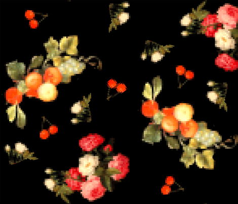 fruit_flower_8bit fabric by heatherdoodle on Spoonflower - custom fabric