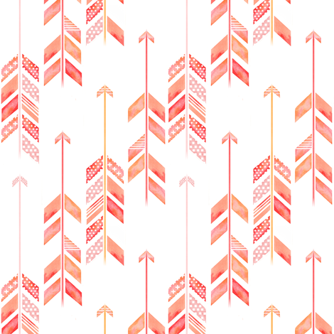 arrow herringbone fabric by emilysanford on Spoonflower - custom fabric