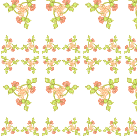 Triskellion Fleurs fabric by ravynscache on Spoonflower - custom fabric