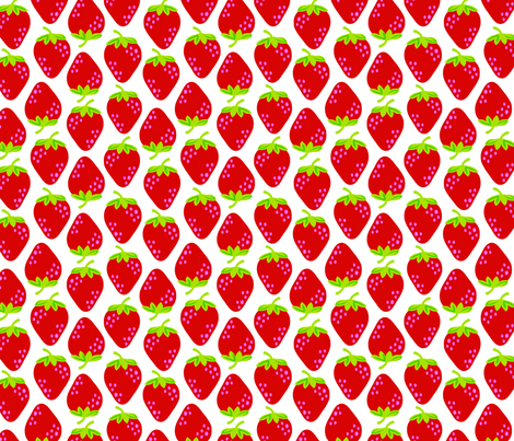 strawberries_a fabric by juneblossom on Spoonflower - custom fabric