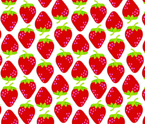 strawberries_a_lrg fabric by juneblossom on Spoonflower - custom fabric