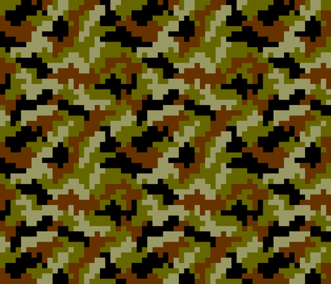 Gamer Camo fabric by karapeters on Spoonflower - custom fabric