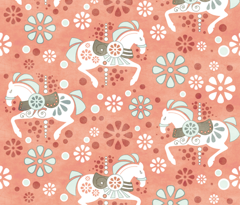 The Carousel fabric by addilou on Spoonflower - custom fabric