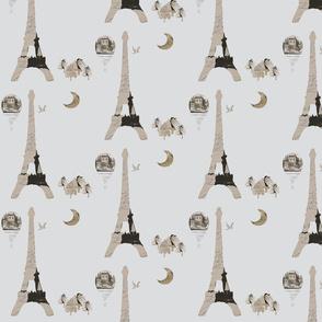 Eiffel Tower Gray