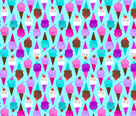 ice cream cones fabric by juneblossom on Spoonflower - custom fabric