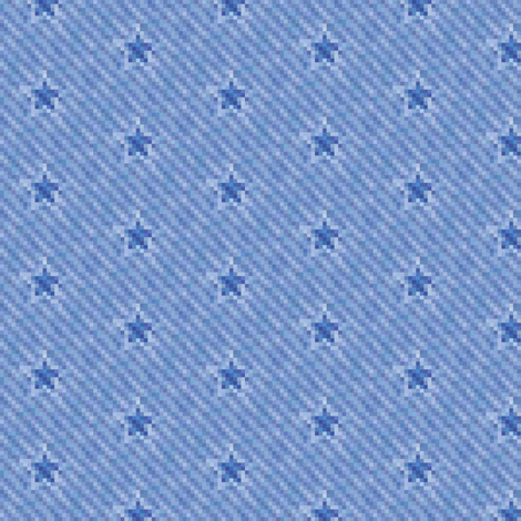 star icons on pixelated faded denim fabric by weavingmajor on Spoonflower - custom fabric