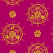 Hyrule Medallions Dark Pink