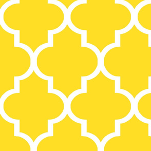 Custom Lemon Quatrefoil - Large Scale