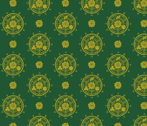 Hyrule Medallions Link Green fabric by aimee on Spoonflower - custom fabric