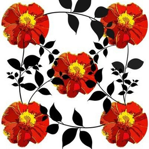 Marigold pattern with leaves