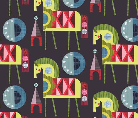 Night horse fabric by ellengiggenbach on Spoonflower - custom fabric