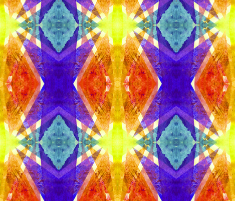 Summer Watercolor Tie-Dye fabric by theartwerks on Spoonflower - custom fabric