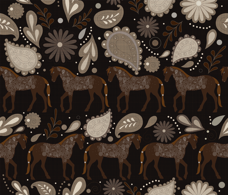 A Dance with Horses 1 fabric by liluna on Spoonflower - custom fabric