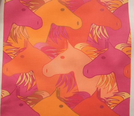 Running horses summer colors
