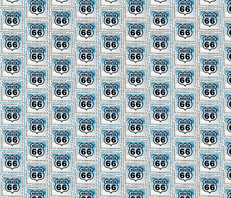 Get Your Kicks on Route 66 txt fabric by vos_designs on Spoonflower - custom fabric