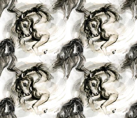 Staliions fabric by suki01 on Spoonflower - custom fabric