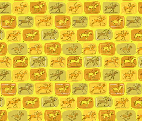 Muybridge Horses 4 fabric by vinpauld on Spoonflower - custom fabric