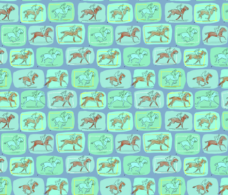 Muybridge Horses 5 fabric by vinpauld on Spoonflower - custom fabric