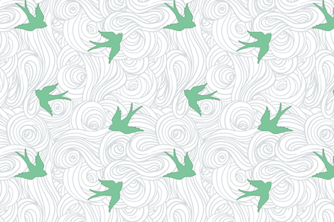 Take Flight, in Overcast Calm fabric by willowlanetextiles on Spoonflower - custom fabric