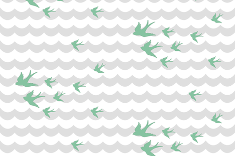 Ocean Flight, in Overcast Calm