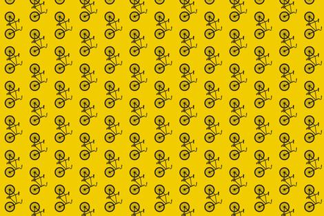 Joy Ride!  bike in yellow and black fabric by sandeeroyalty on Spoonflower - custom fabric