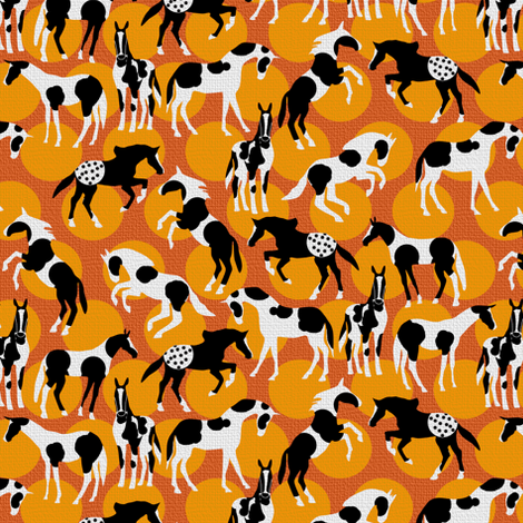 Spot the Horses fabric by eclectic_house on Spoonflower - custom fabric