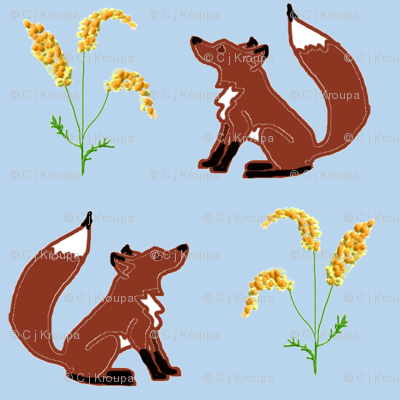 Fox and Goldenrod (Day)
