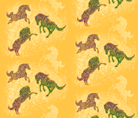 Summer Horses fabric by digital_bath on Spoonflower - custom fabric
