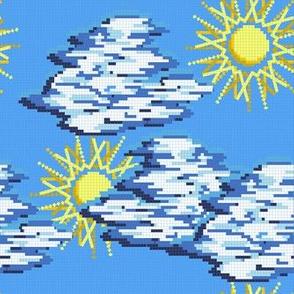 8 bit clouds