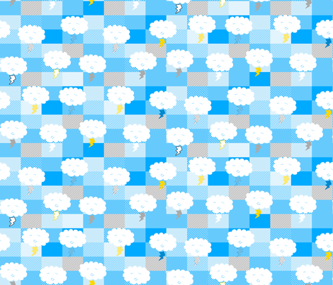 Lightning clouds large fabric by ladykerry on Spoonflower - custom fabric