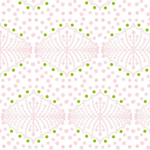 Polka Dot Dreams in Petals and Green