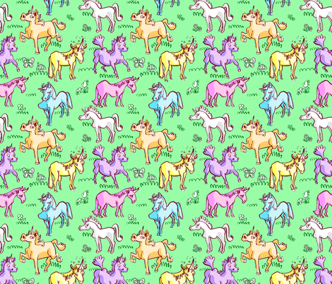 Goofy Unicorns fabric by chriscalmdown on Spoonflower - custom fabric