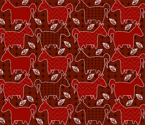 Funny_Horses fabric by yasminah_combary on Spoonflower - custom fabric