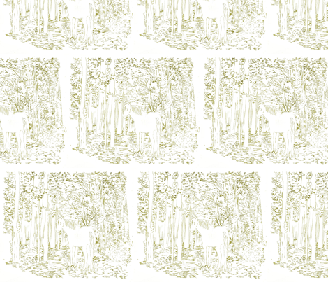 horse_olive fabric by sewpersonal_designs on Spoonflower - custom fabric