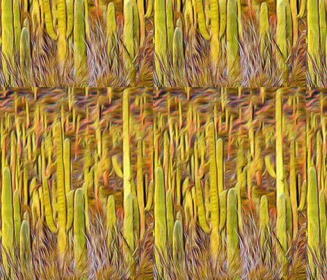 Cactus_pattern fabric by robbrez on Spoonflower - custom fabric