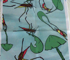 Flying Crickets Watercolor