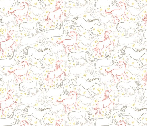Horse_pattern3_col_lines_coral_shop_preview